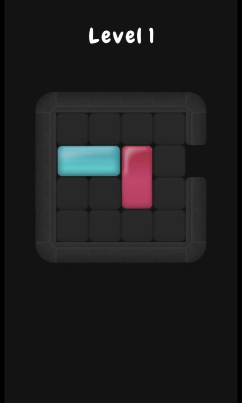 滑動藍色的方塊