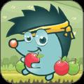 小刺猬吃蘋果